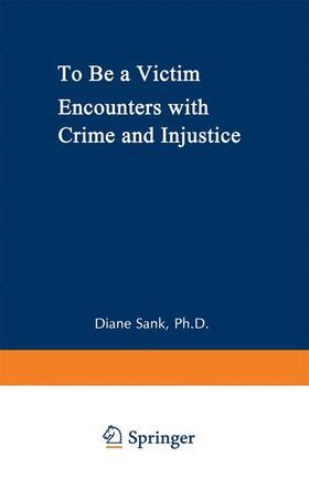 Sank / Caplan | To Be a Victim | Buch