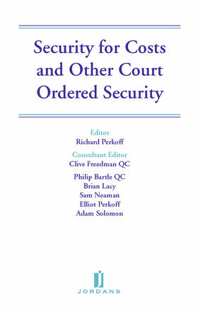Perkoff / Freedman / Bartle | Security for Costs and Other Court Ordered Security | Buch