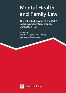 Thorpe / Faggionato   Mental Health and Family Law   Buch