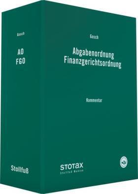Abgabenordnung Finanzgerichtsordnung, ohne Fortsetzungsbezug
