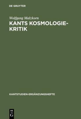 Malzkorn   Kants Kosmologie-Kritik   Buch
