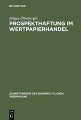 Prospekthaftung im Wertpapierhandel