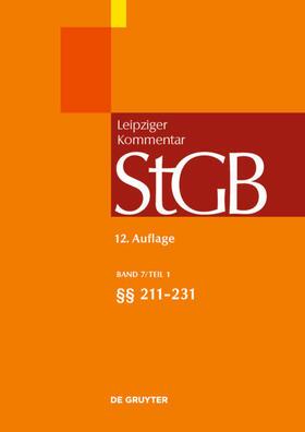 Strafgesetzbuch. Leipziger Kommentar