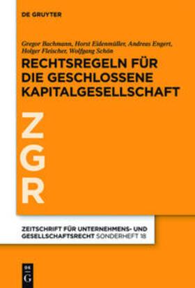 Rechtsregeln für die geschlossene Kapitalgesellschaft