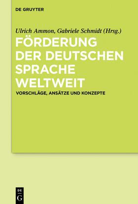 Förderung der deutschen Sprache weltweit