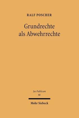 Poscher | Grundrechte als Abwehrrechte | Buch