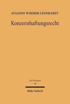 Wimmer-Leonhardt | Konzernhaftungsrecht | Buch