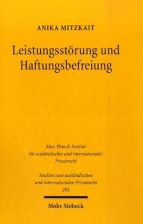 Mitzkait | Leistungsstörung und Haftungsbefreiung | Buch