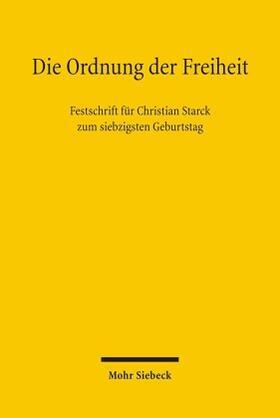 Grote / Härtel / Hain | Die Ordnung der Freiheit | Buch