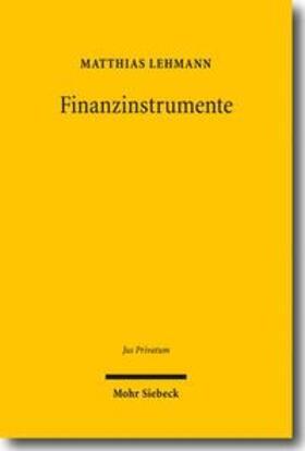 Lehmann | Finanzinstrumente | Buch