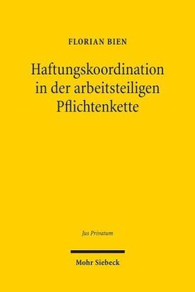 Bien | Haftungskoordination in der arbeitsteiligen Pflichtenkette | Buch
