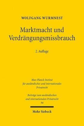Wurmnest | Marktmacht und Verdrängungsmissbrauch | Buch