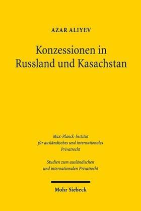 Aliyev | Konzessionen in Russland und Kasachstan | Buch