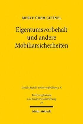 Ürem Çetinel | Eigentumsvorbehalt und andere Mobiliarsicherheiten | Buch