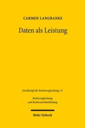 Langhanke | Daten als Leistung | Buch