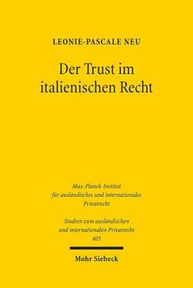 Neu | Der Trust im italienischen Recht | Buch