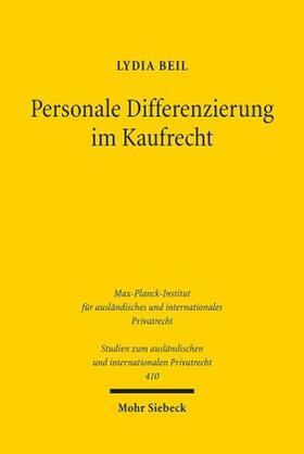 Personale Differenzierung im Kaufrecht