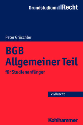 Gröschler   BGB Allgemeiner Teil   Buch