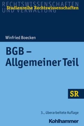 Boecken | BGB - Allgemeiner Teil | Buch