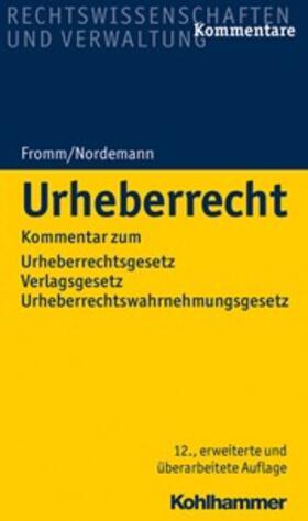 Fromm/Nordemann | Urheberrecht | Buch