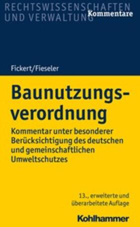 Fickert / Fieseler   Baunutzungsverordnung   Buch