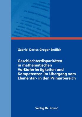Geschlechterdisparitäten in mathematischen Vorläuferfertigkeiten und Kompetenzen im Übergang vom Elementar- in den Primarbereich