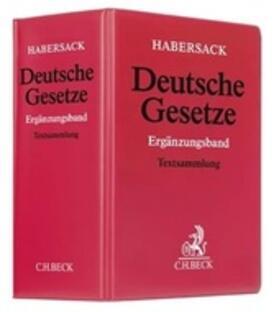 Deutsche Gesetze: Ergänzungsband, mit Fortsetzungsbezug