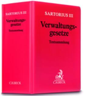 Sartorius III | Verwaltungsgesetze | Loseblattwerk