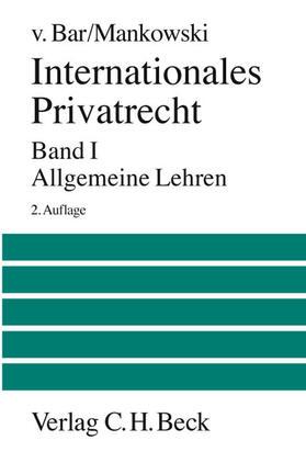 Bar / Mankowski | Internationales Privatrecht | Buch