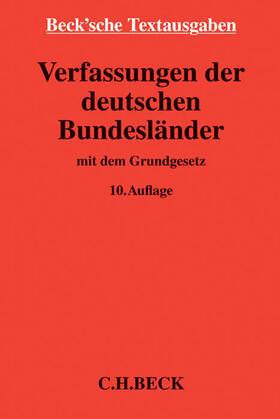 Verfassungen der deutschen Bundesländer   Buch