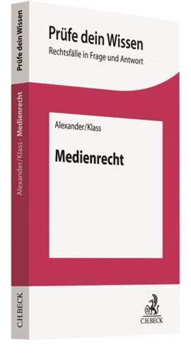 Alexander / Klass   Medienrecht   Buch