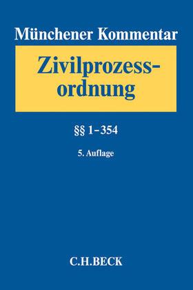 Münchener Kommentar zur Zivilprozessordnung: ZPO