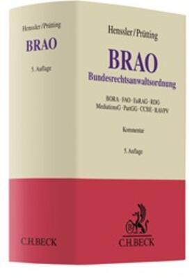 Henssler / Prütting | Bundesrechtsanwaltsordnung: BRAO | Buch