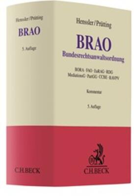 Henssler / Prütting   Bundesrechtsanwaltsordnung: BRAO   Buch