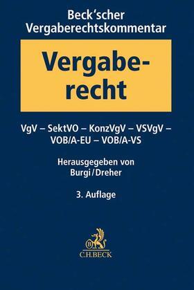 Burgi / Dreher | Beck'scher Vergaberechtskommentar - Zweibändige Ausgabe | Buch