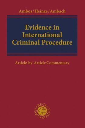 Ambos / Heinze / Ambach | Evidence in International Criminal Procedure | Buch