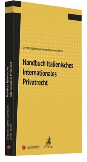 Christandl / Eccher / Gallmetzer | Handbuch Italienisches Internationales Privatrecht | Buch