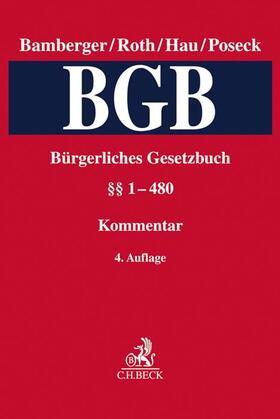 Bürgerliches Gesetzbuch: BGB  Band 1: §§ 1-480