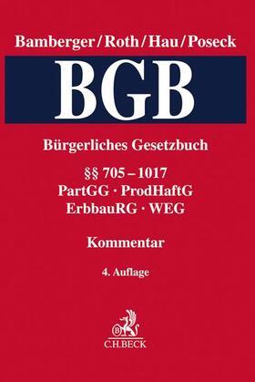 Bürgerliches Gesetzbuch: BGB - Band 3: §§ 705-1017 - PartGG, ProdHaftG, ErbbauRG, WEG