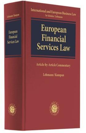 Lehmann / Kumpan   Financial Services Law   Buch
