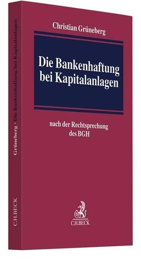 Die Bankenhaftung bei Kapitalanlagen