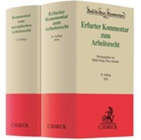 Erfurter Kommentar zum Arbeitsrecht (18. Aufl.) + Franzen / Gallner / Oetker, Kommentar zum europäischen Arbeitsrecht (2. Aufl.) • Set | Buch