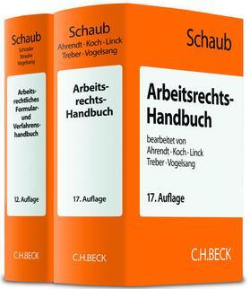 Arbeitsrechts-Handbuch (17. Auflage)  und Arbeitsrechtliches Formular- und Verfahrenshandbuch (12. Auflage) - Set