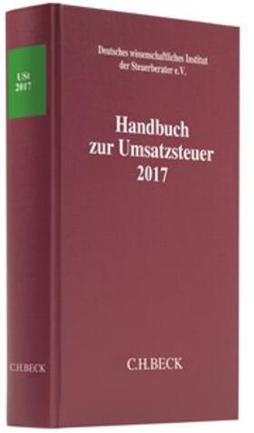 Handbuch zur Umsatzsteuer 2017:      USt 2017