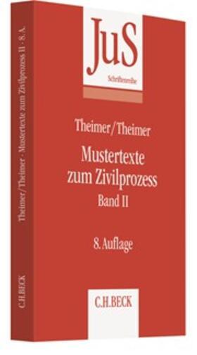 Mustertexte zum Zivilprozess Band II: Besondere Verfahren erster und zweiter Instanz, Relationstechnik