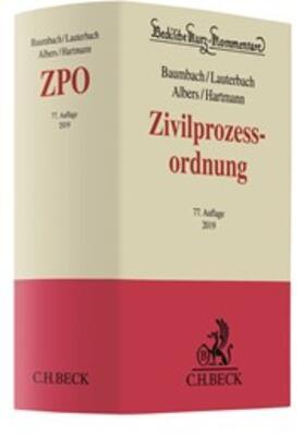 Baumbach / Lauterbach / Albers | Zivilprozessordnung: ZPO | Buch