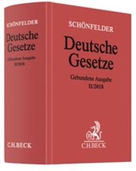 Deutsche Gesetze, Gebundene Ausgabe II/2018