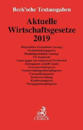 Aktuelle Wirtschaftsgesetze 2019 | Buch