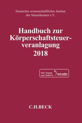 Handbuch zur Körperschaftsteuerveranlagung 2018