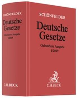 Deutsche Gesetze Gebundene Ausgabe I/2019